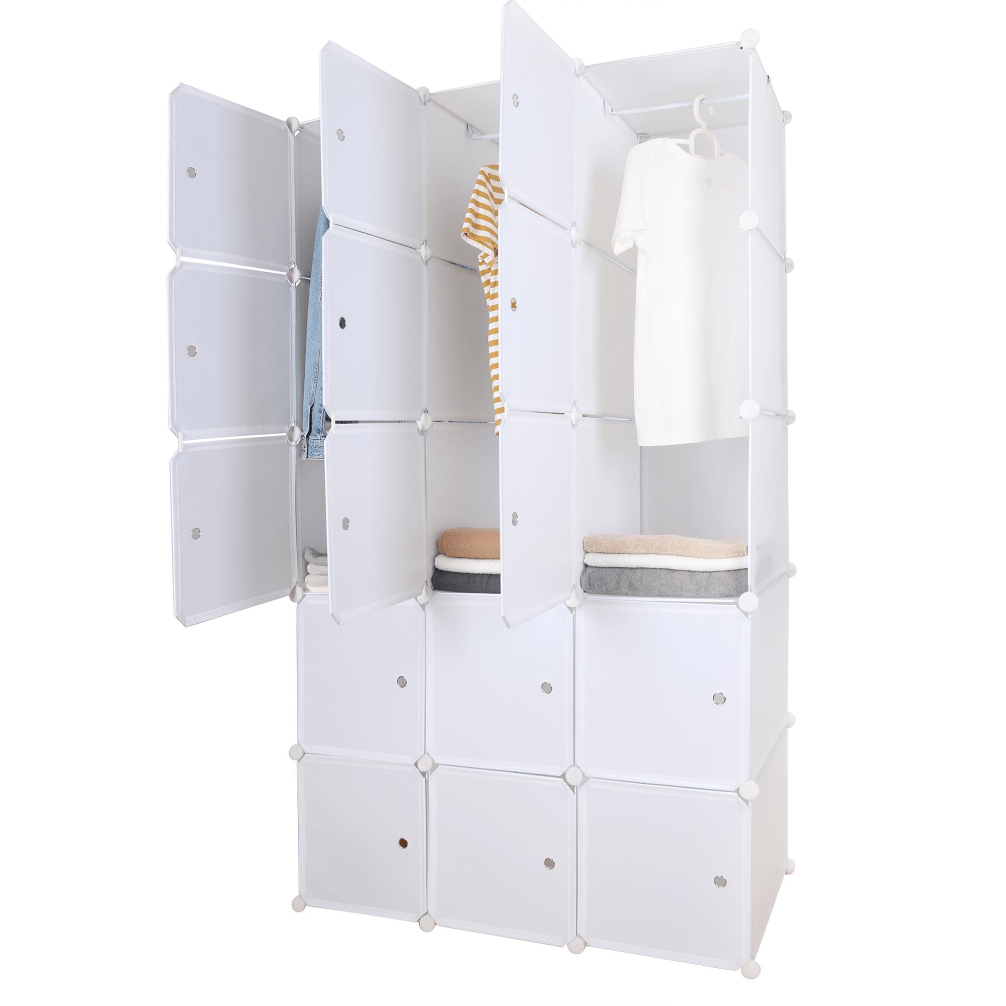 Moduláris multifunkciós szekrény, fehér, ZALVO