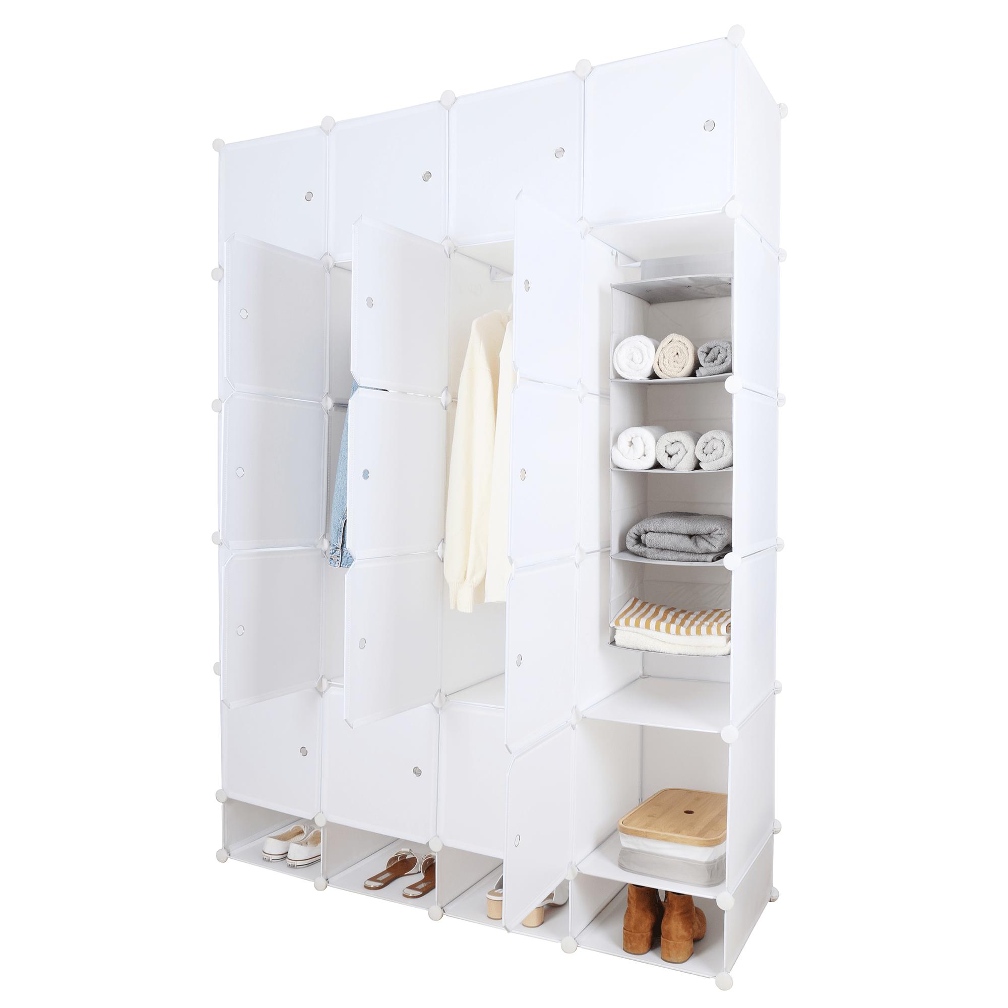 Moduláris multifunkciós szekrény, fehér, ZAFOD