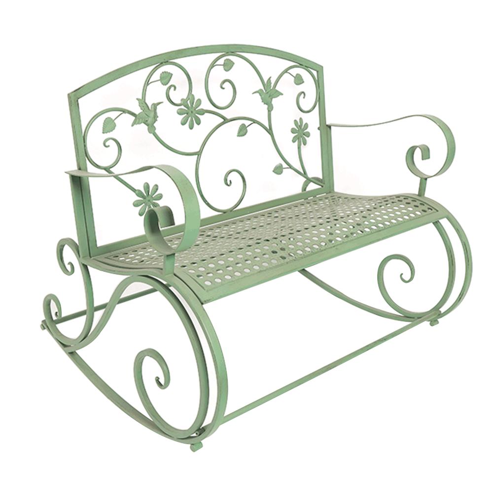 Kovová hojdacia lavička, neomint, WILIO