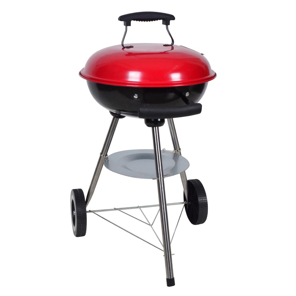 Faszenes grillsütő, fekete/piros, MARTOS