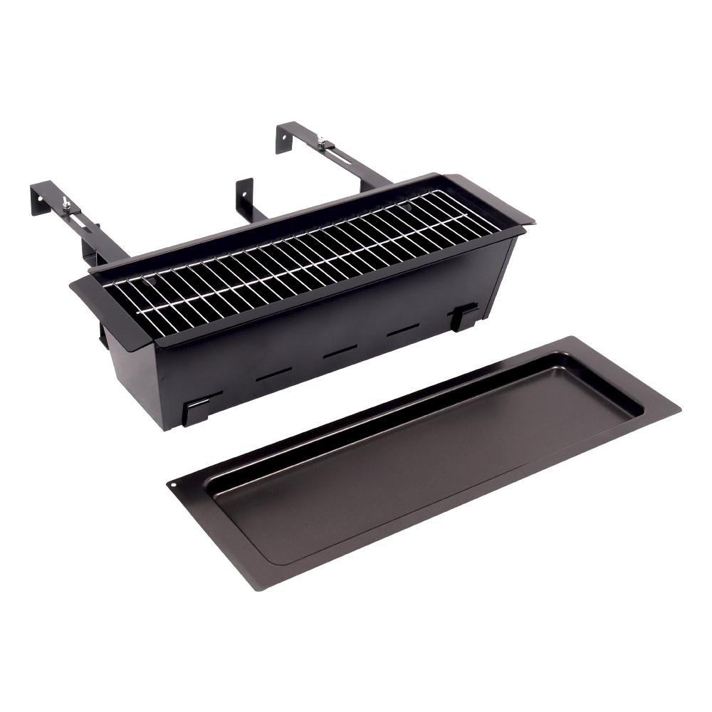 Faszenes grillsütő erkélyre, fekete, ZIMIO