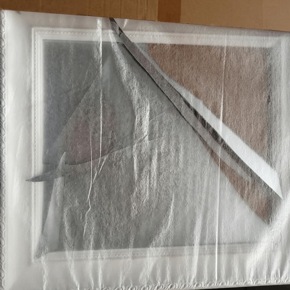 Zrkadlo, drevený rám bielej farby, MALKIA TYP 8, poškodený tovar