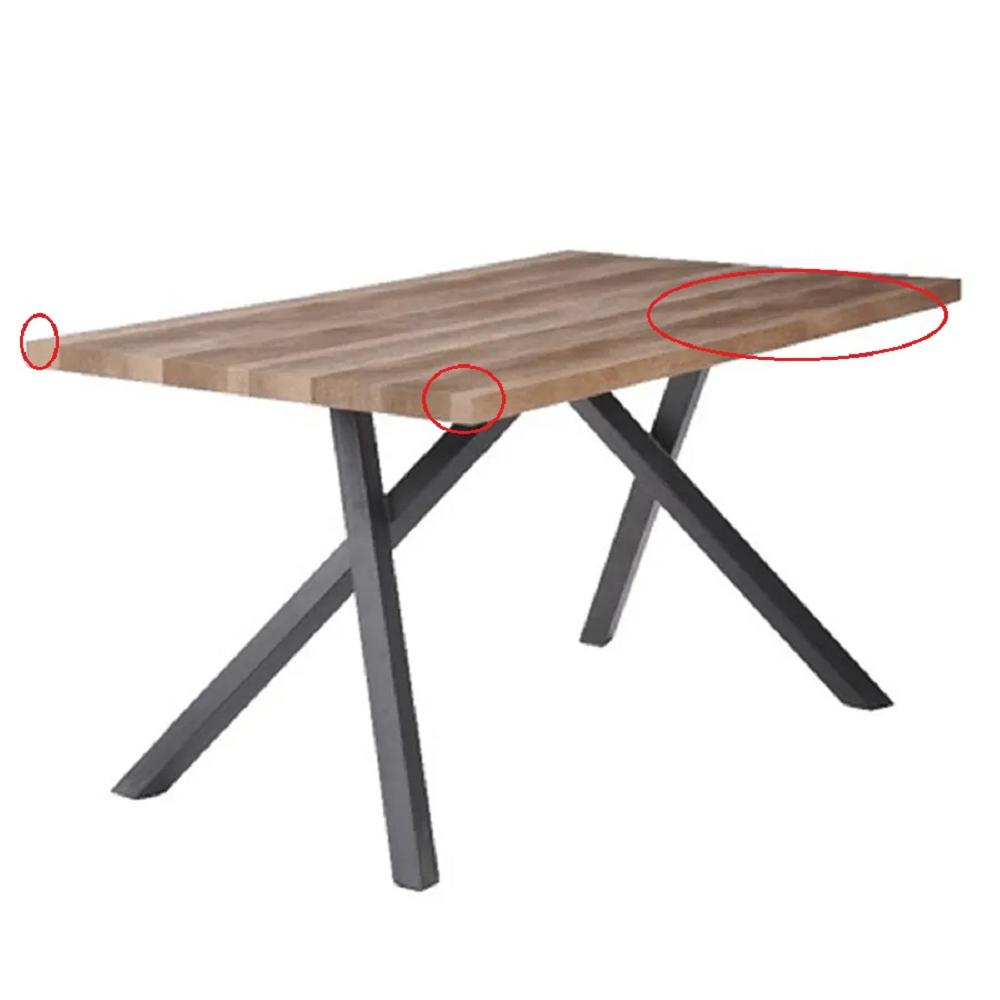 Jedálenský stôl, svetlá slivka/čierna, GURDUN, poškodený tovar