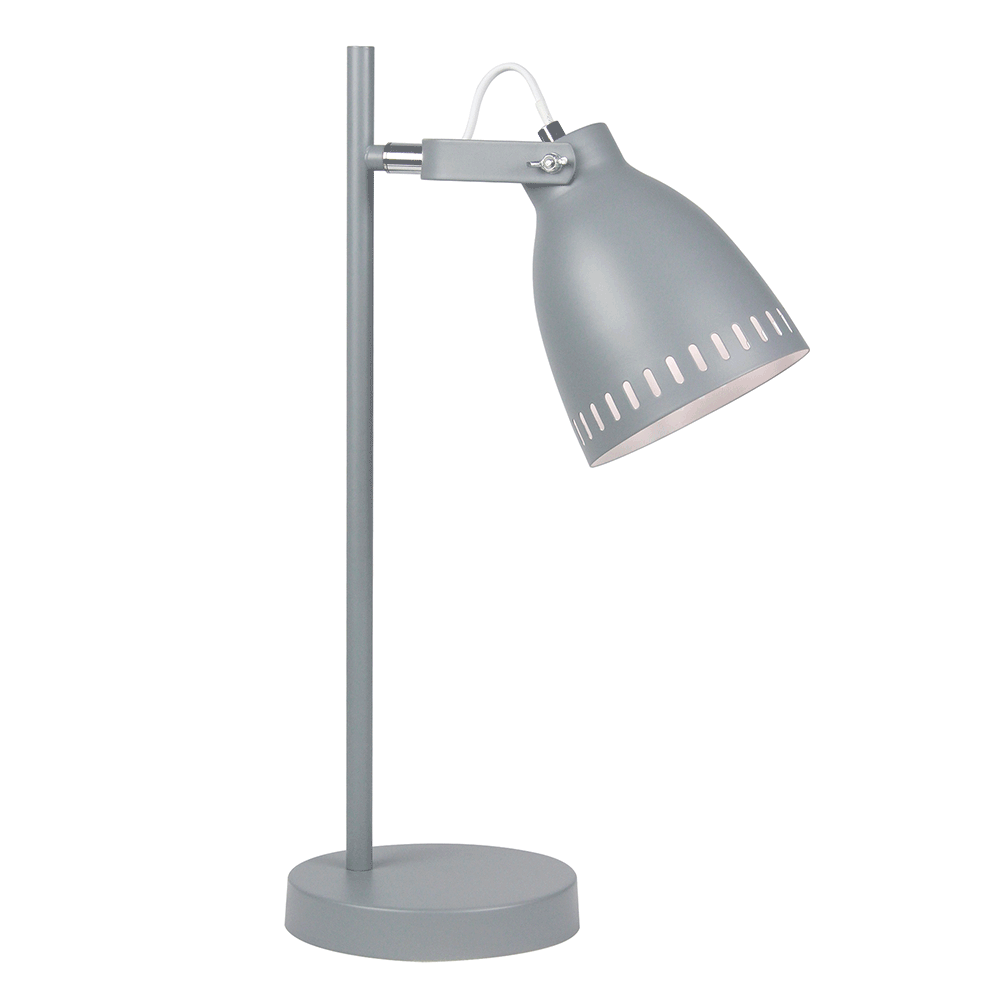 Stolná lampa, sivá/kov, AIDEN TYP 1