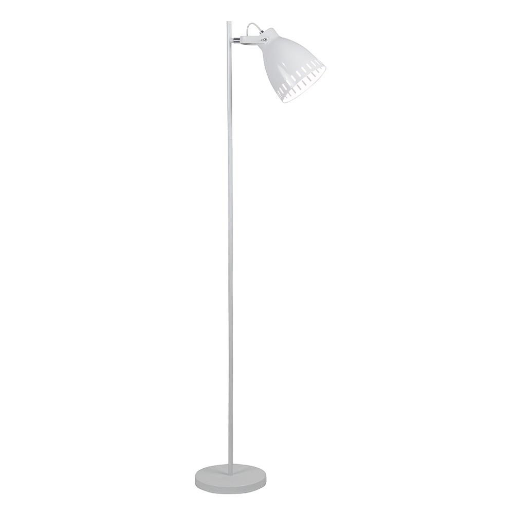 Stojací lampa, bílá / kov, AIDEN TYP 2, TEMPO KONDELA