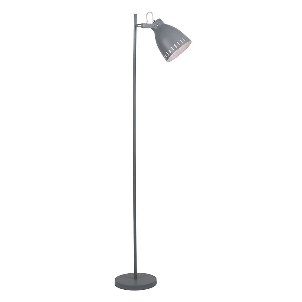 Stojací lampa, šedá / kov, AIDEN TYP 2, TEMPO KONDELA