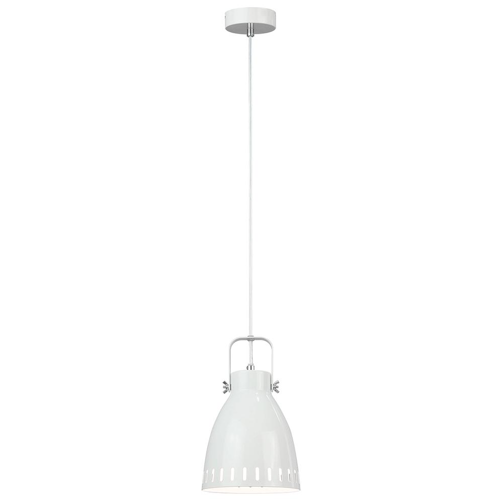 Lampă suspendată, albă / metalică, AIDEN TIP 3