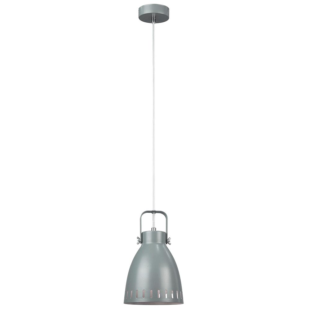 Lampă suspendată, gri / metal, AIDEN TIP 3