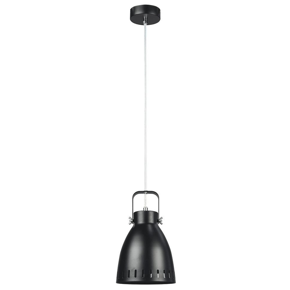 Lampă suspendată, neagră / metalică, AIDEN TIP 3
