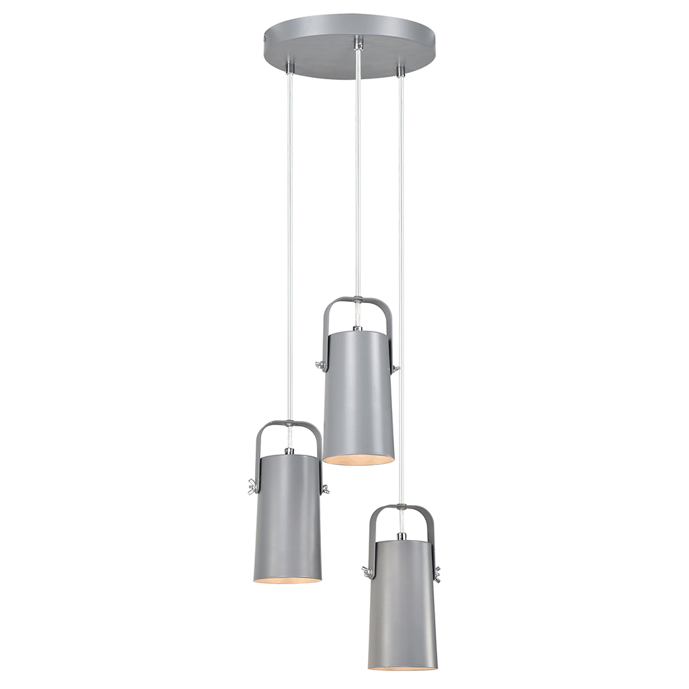 Visící lampa, šedá / kov, DEVAN, TEMPO KONDELA