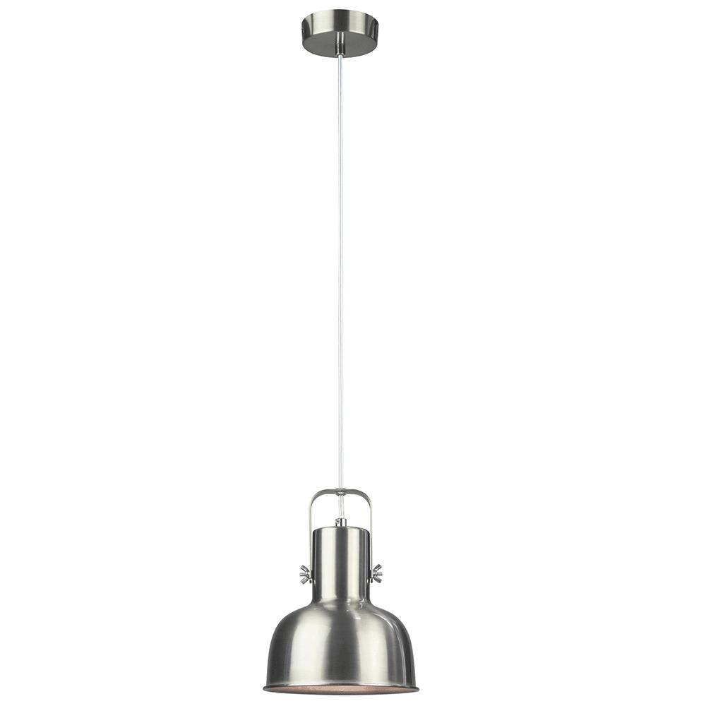 Visící lampa v retro stylu, kov, matný nikl, AVIER TYP 3, TEMPO KONDELA