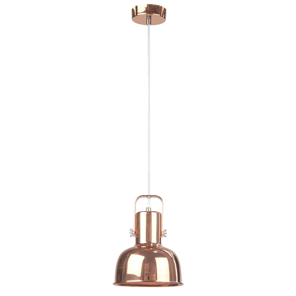 Lampă suspendată în stil retro, metal, roz auriu, AVIER TIP 3