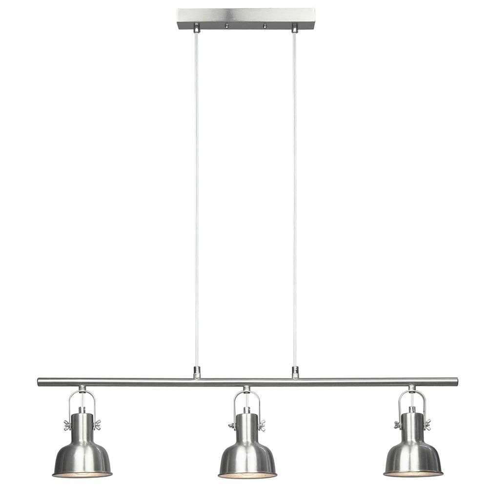 Visící lampa v retro stylu, kov, matný nikl, AVIER TYP 4, TEMPO KONDELA