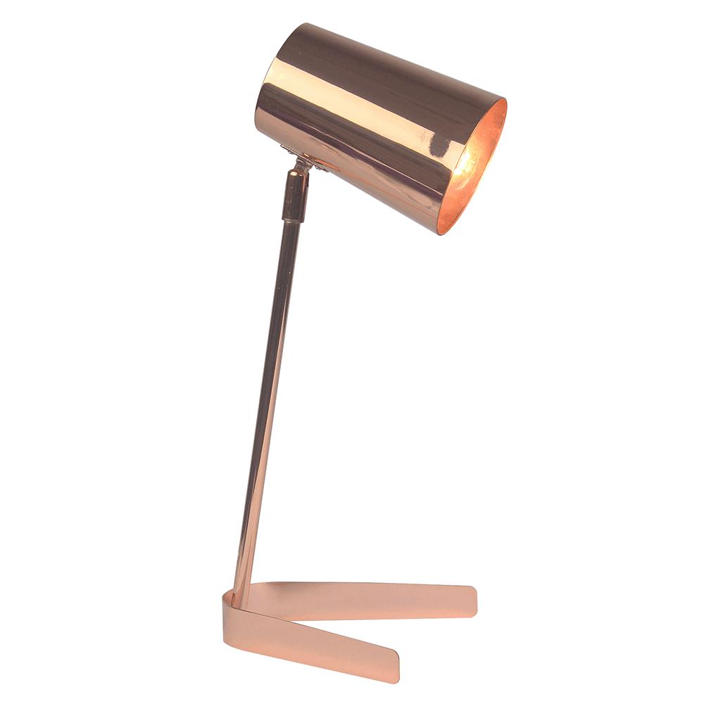 Stolná lampa, kov/rose gold, FABEL