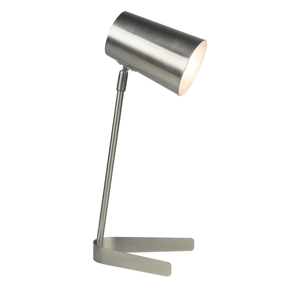 Stolná lampa, kov/matný nikel, FABEL