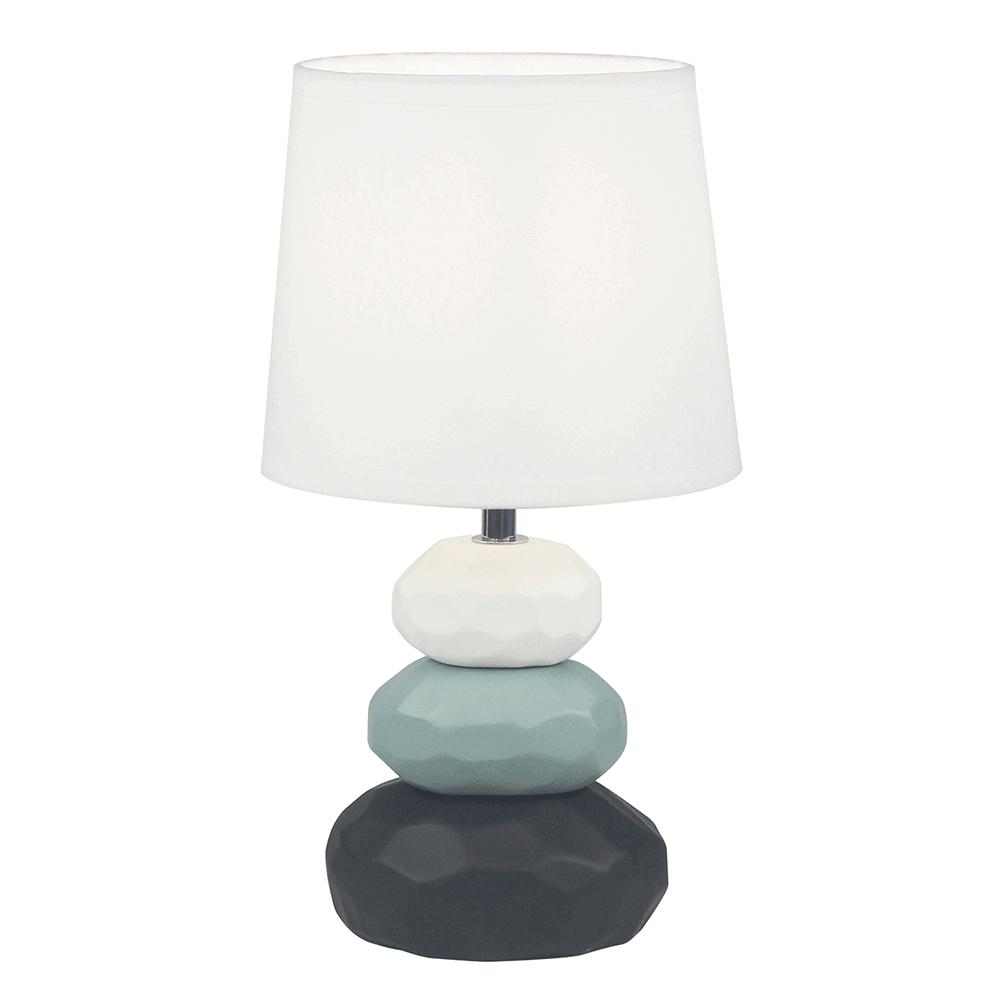 Lampă de masă, alb / albastru / negru, LENUS