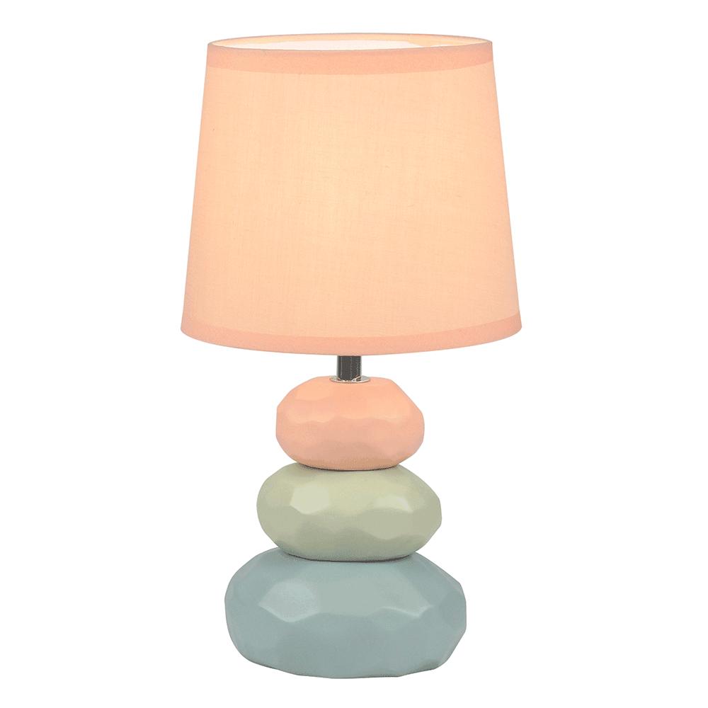 Lampă de masă, portocalie / verde / albastră, LENUS