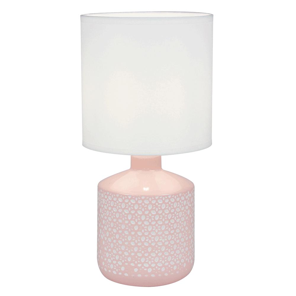 Stolná lampa, biela/ružová, OFRED