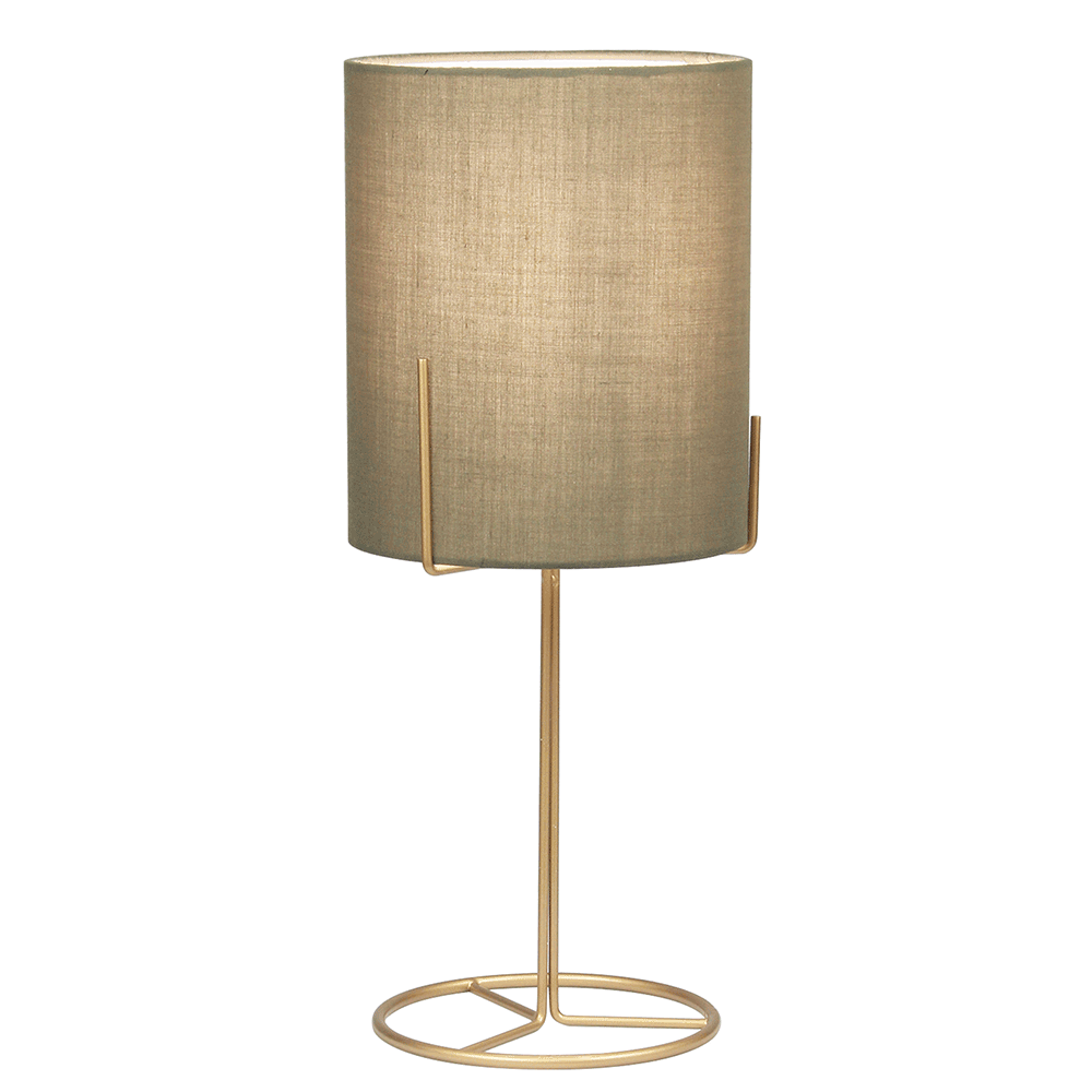 Lampă de masă, metal / gri-maro, ANELE