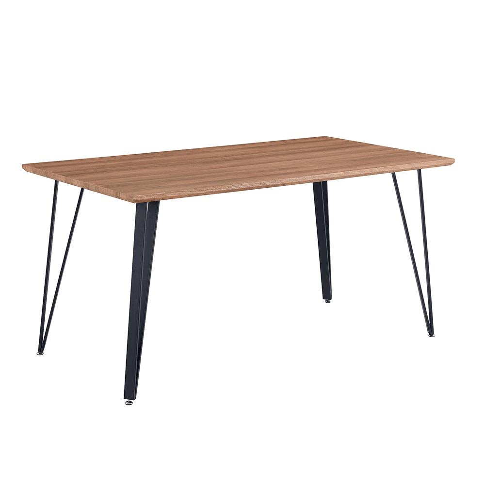 Jedálenský stôl, 150 cm, dub/čierna, FRIADO
