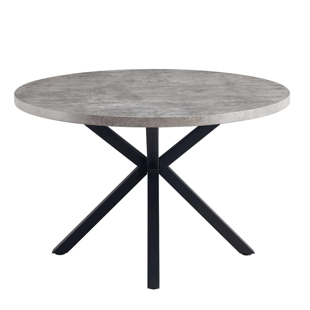 Jedálenský stôl, betón/čierna, MEDOR