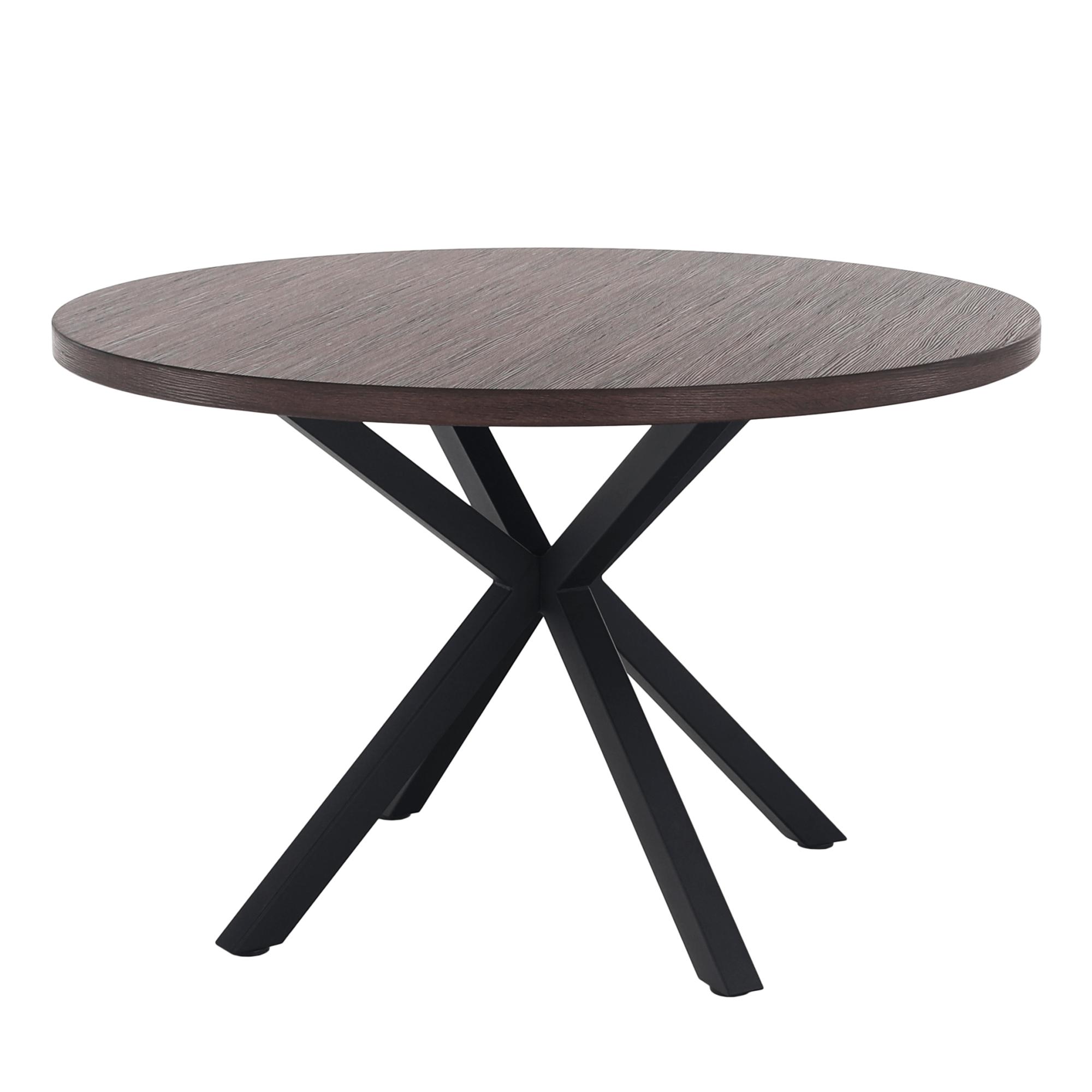 Jedálenský stôl, tmavý dub/čierna, MEDOR