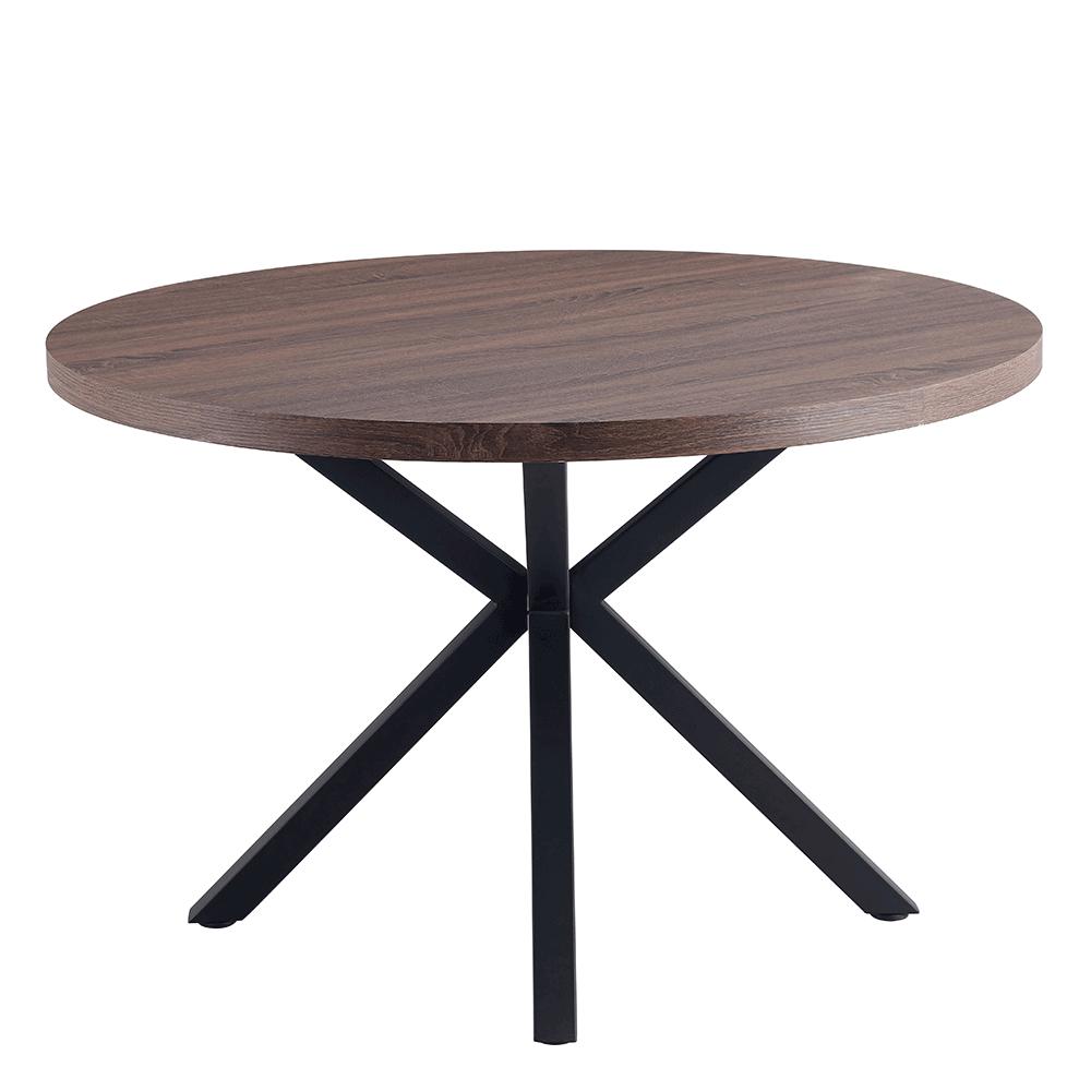 Jedálenský stůl, tmavý dub / čierna, MEDOR, TEMPO KONDELA