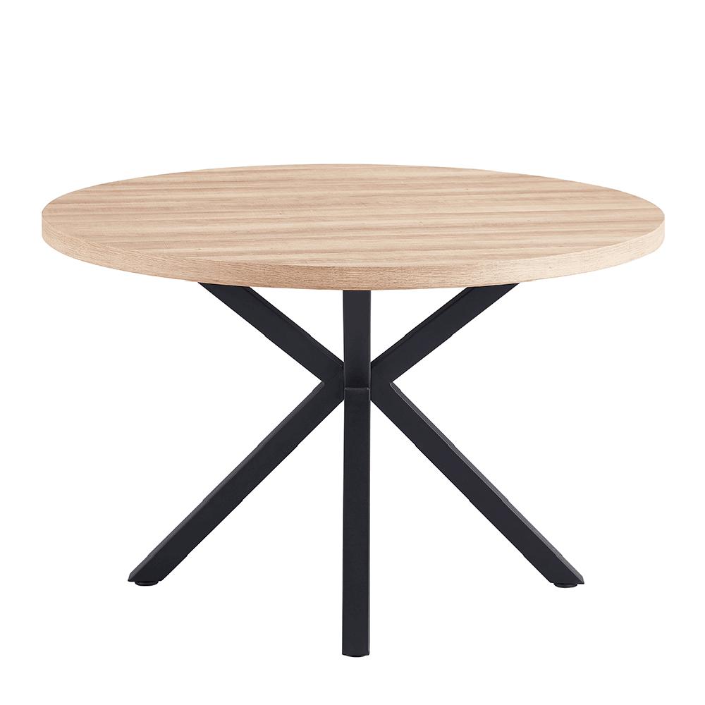 Jedálenský stôl, dub sonoma/čierna, MEDOR