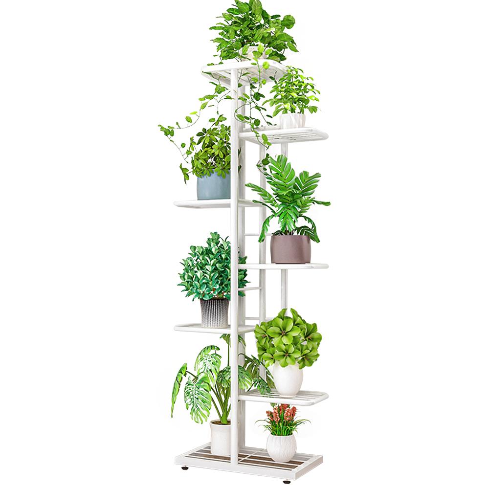 Suport pentru flori din metal, alb, BAMIR TIP 2