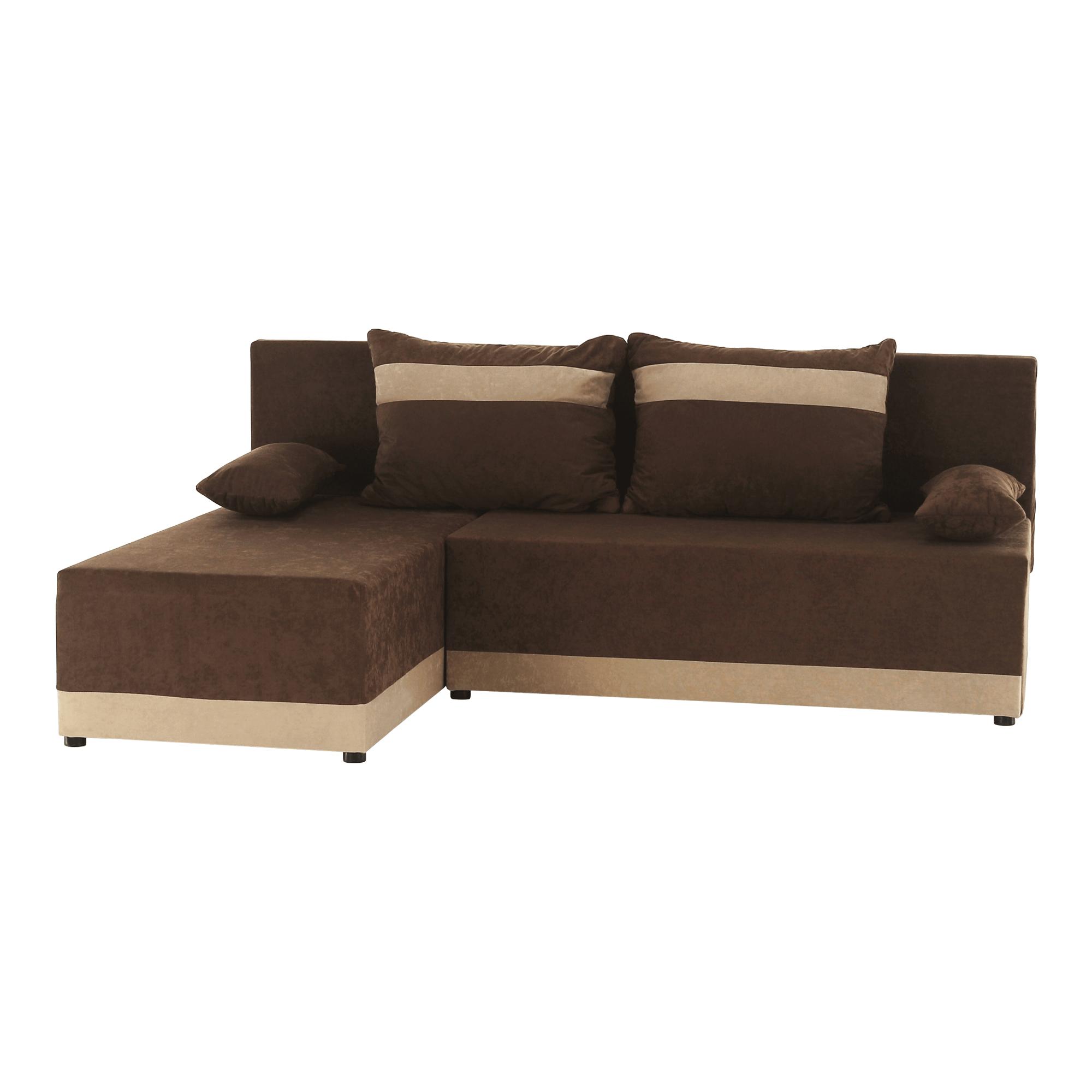 Univerzális ülőgarnitúra, barna/bézs, ROMAND