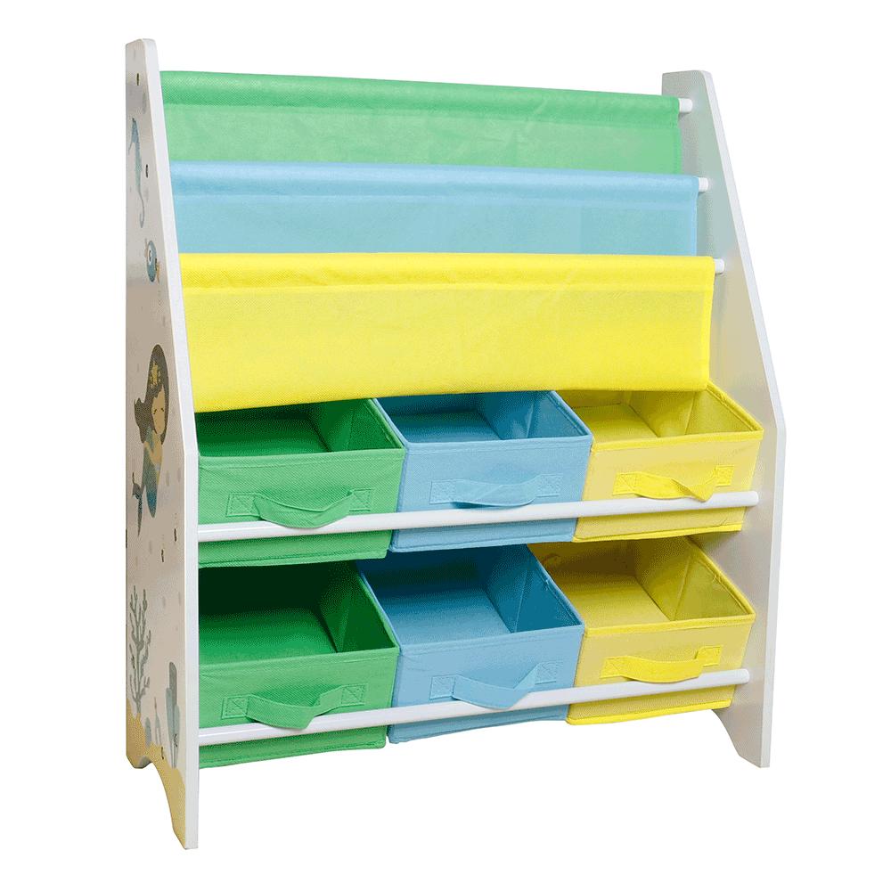 Organizér/regál na hračky, viacfarebná/vzor, NOMITO TYP 1