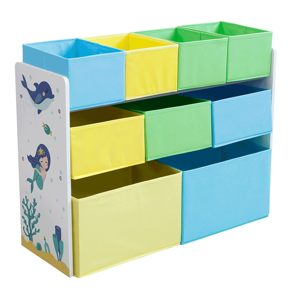 Organizér/regál na hračky, viacfarebná/vzor, NOMITO TYP 2