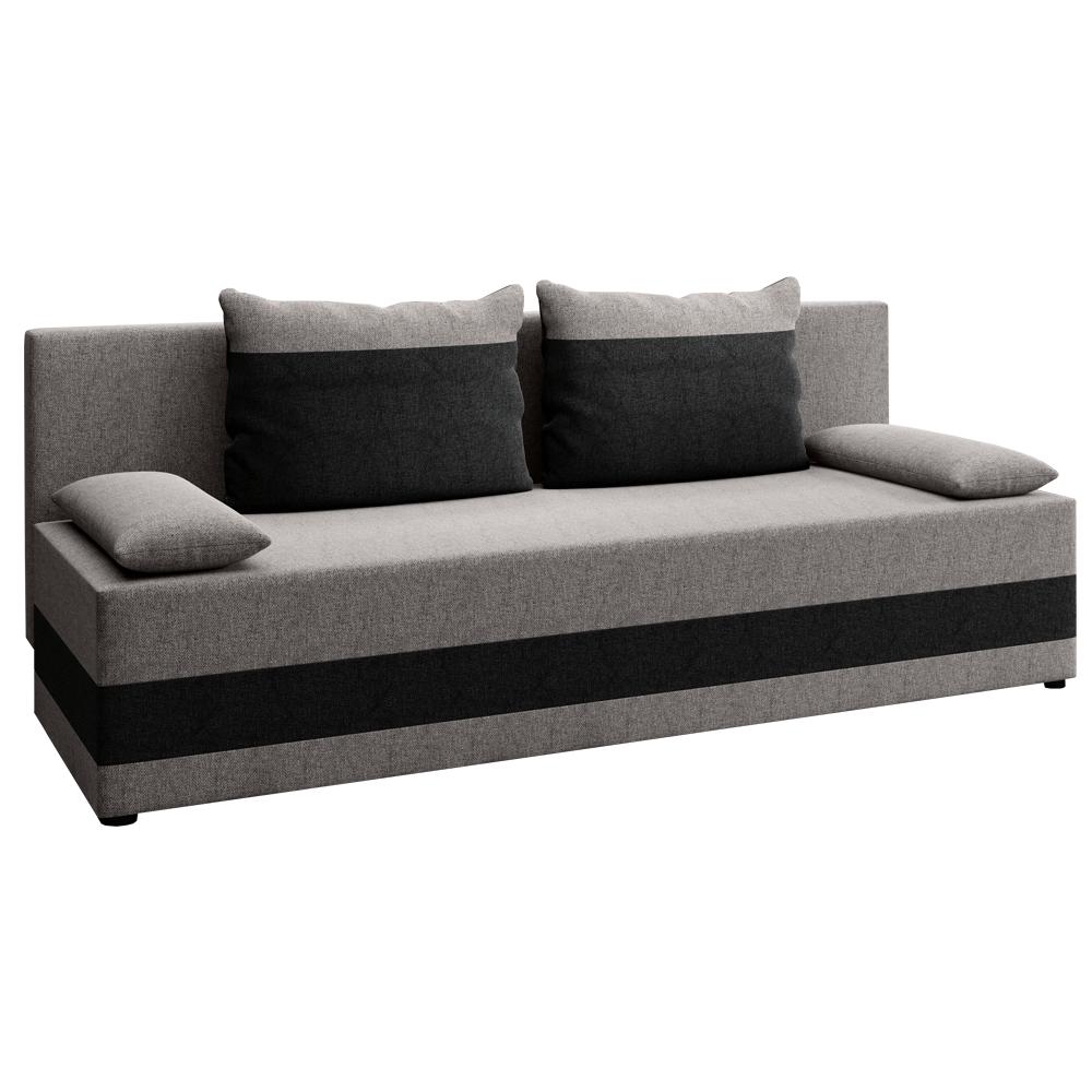 Szétnyitható kanapé, szürke/sötétszürke, PREMIUM