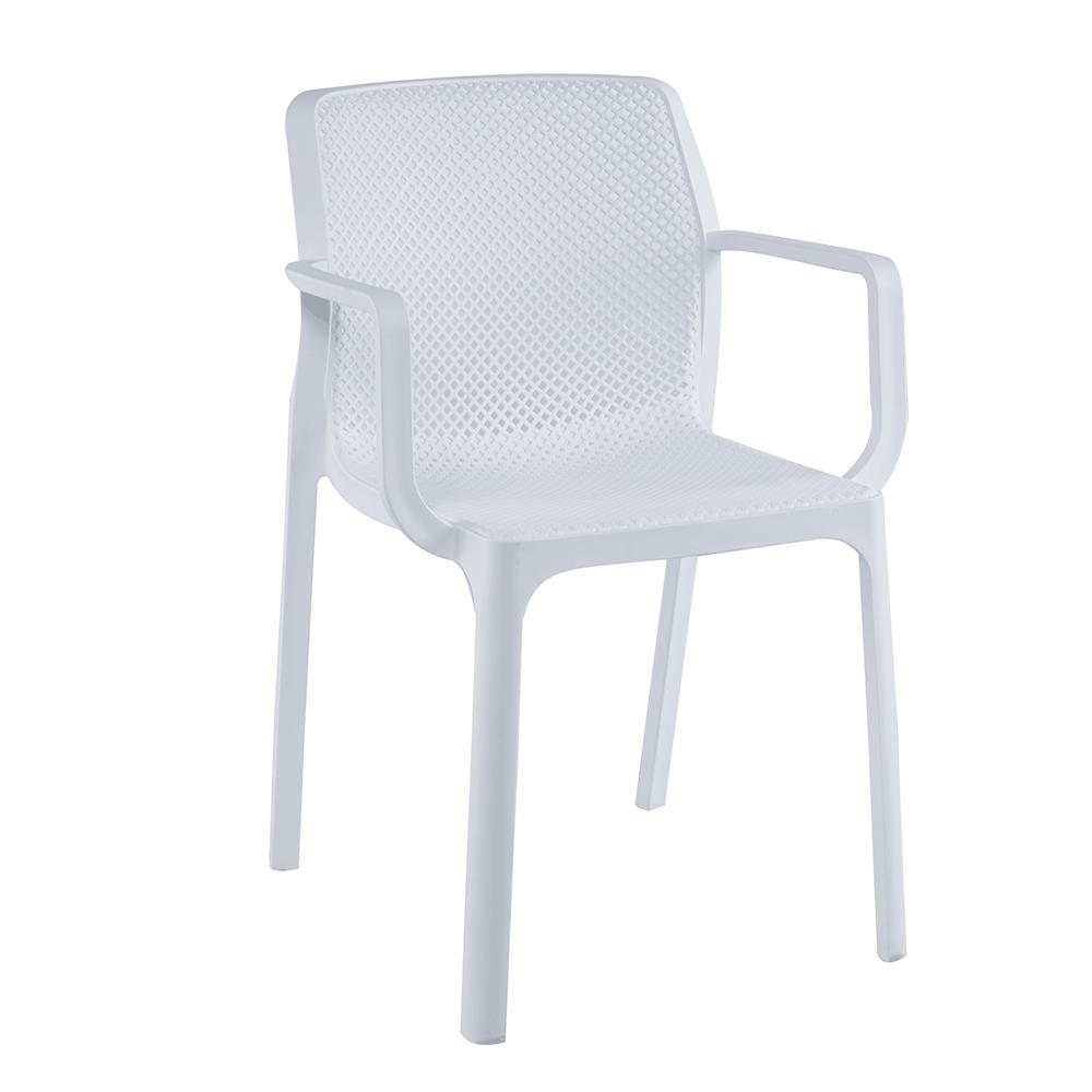 Rakásolható szék, fehér/műanyag, FRENIA