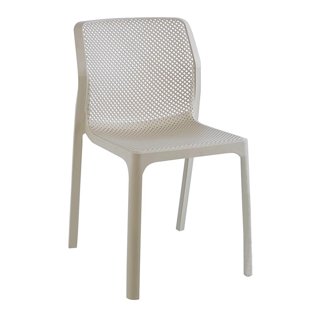 Rakásolható szék, szürkésbarna taupe/műanyag, LARKA