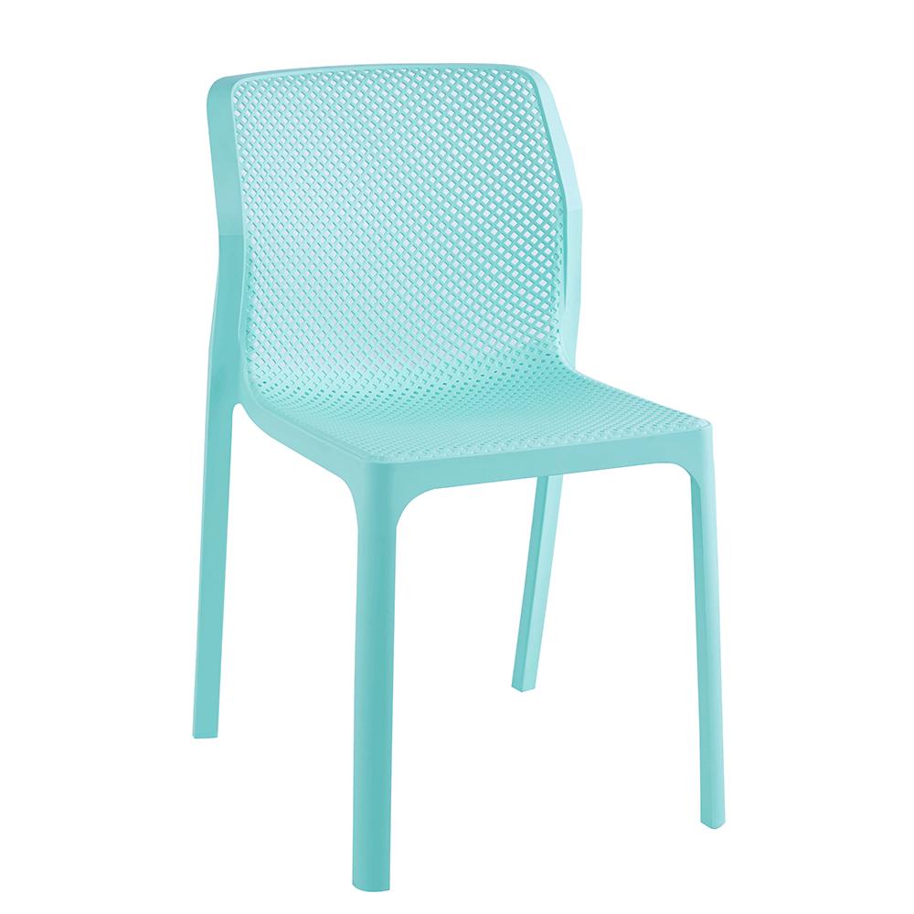 Rakásolható szék, mentol/műanyag, LARKA