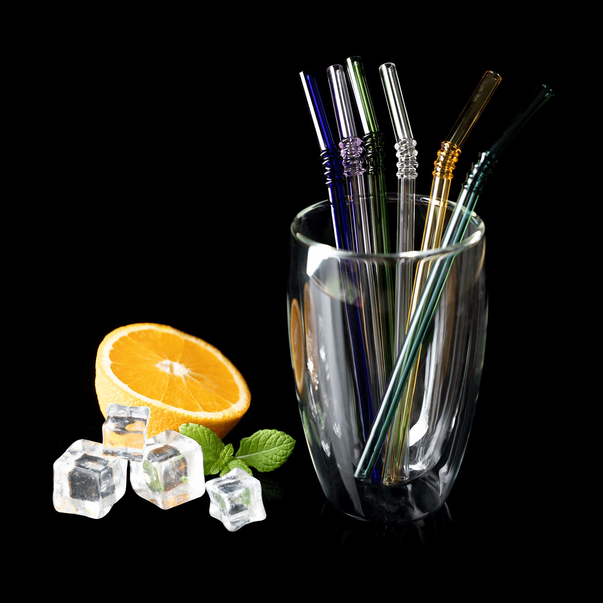 Set de 6 paie de sticlă + perie, amestec de culori, HOTCOLD TIP 19