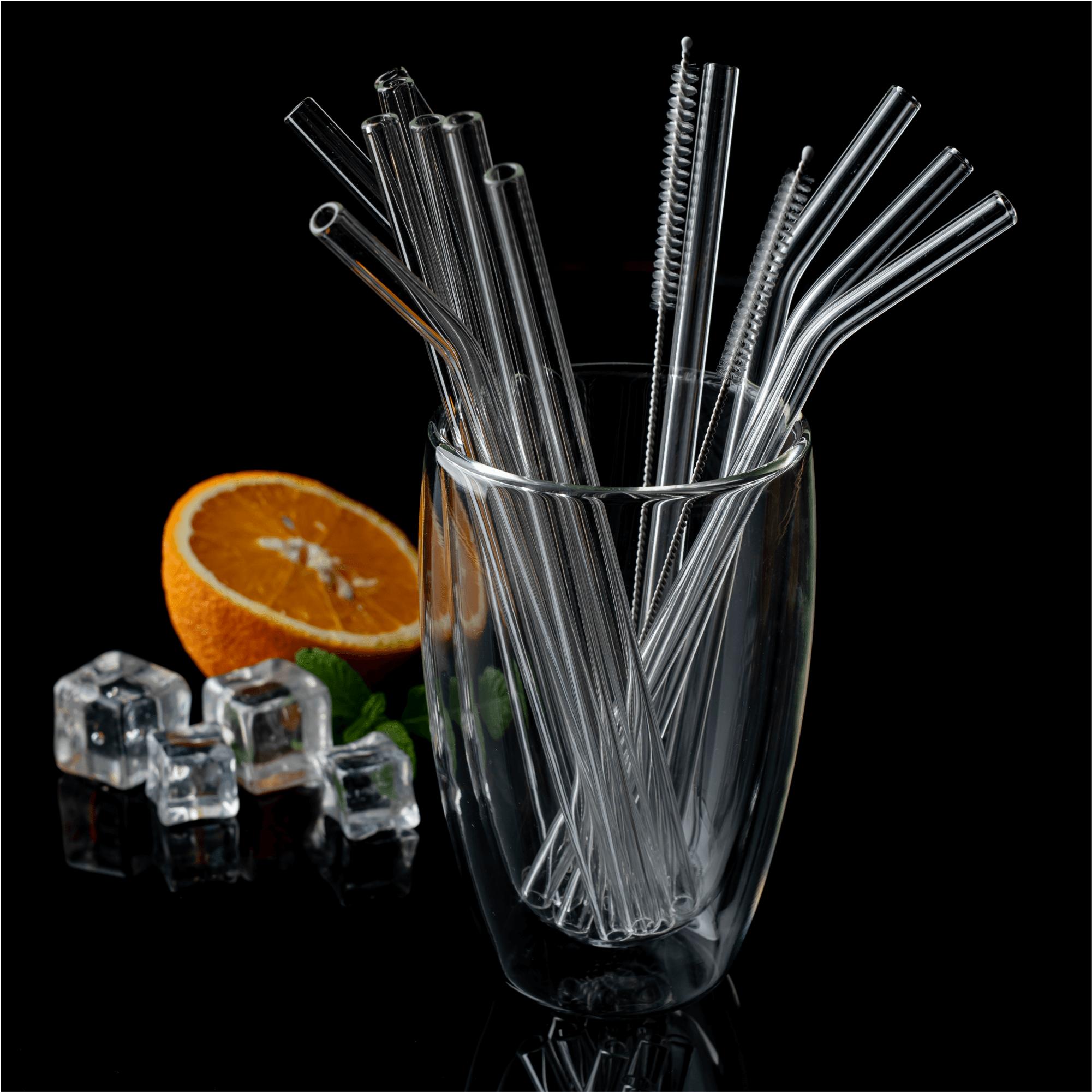 Set de 12 paie de sticlă + 2 perii, transparente, HOTCOLD TIP 20