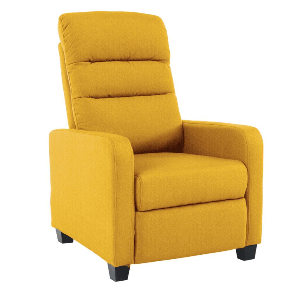 Relaxáló fotel, sárga, TURNER