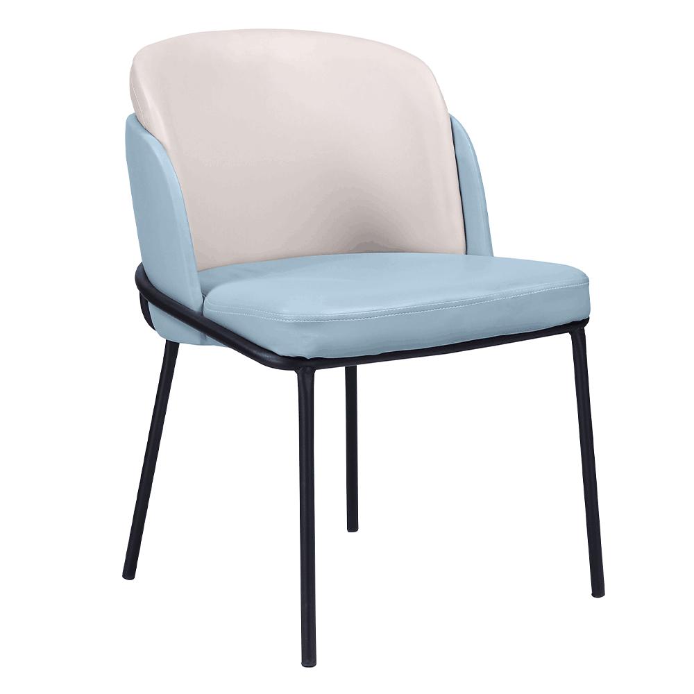 Dizájn fotel, kék/bézs, ekobőr, GANON