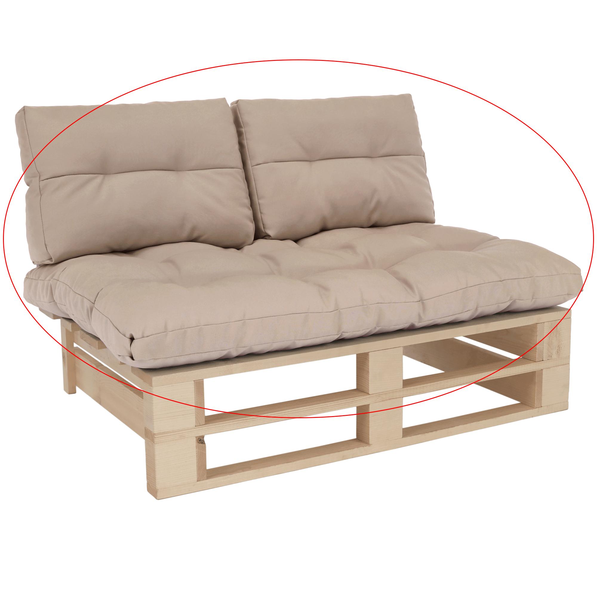 Perne pentru mobilier din paleţi, bej, ARYO