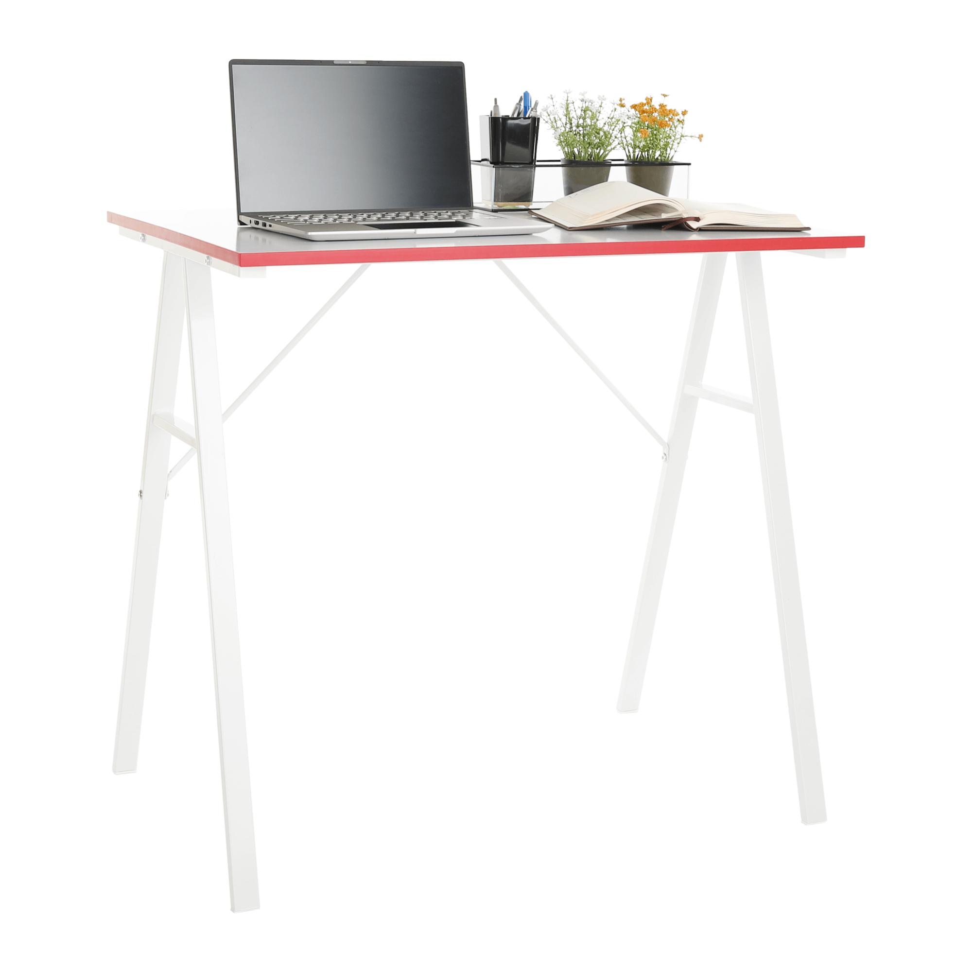 Birou computer, alb / roşu, RALDO