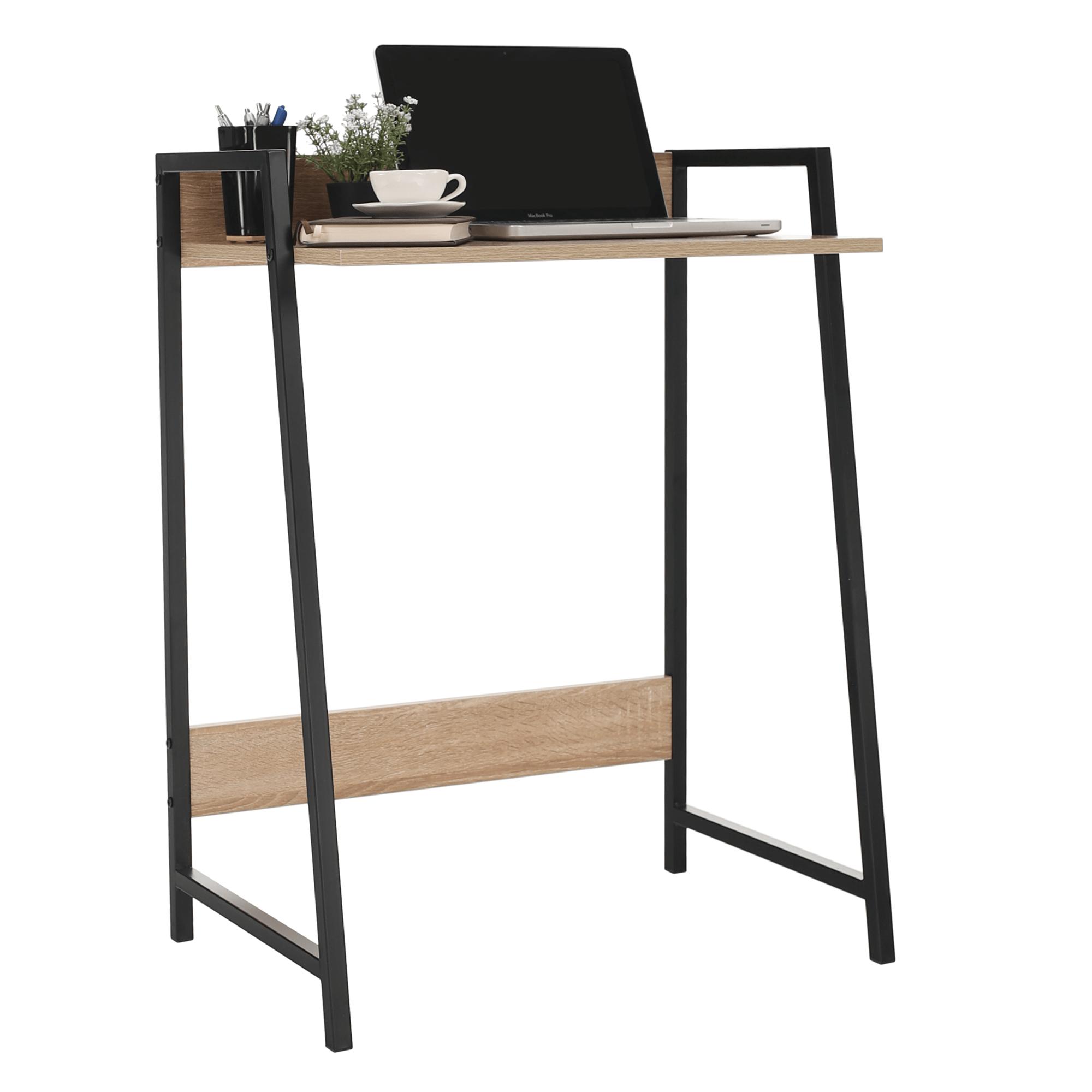 Számítógépasztal, sonoma tölgy/fekete, LAVSON