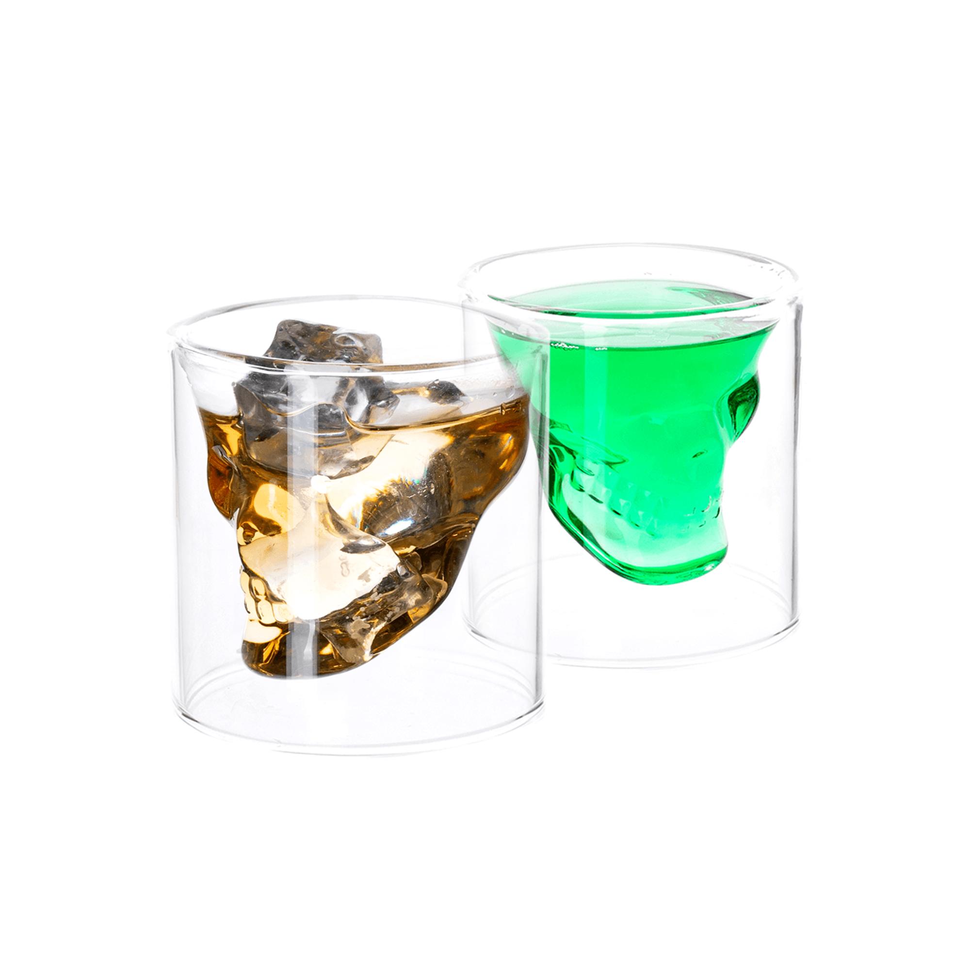 Cană termică craniu, 2 buc., 75 ml, HOTCOLDER TIP 32