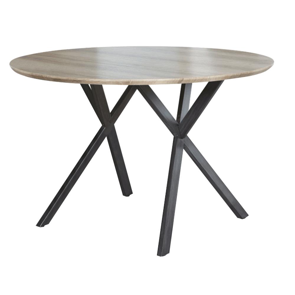 Jedálenský stôl, dub sivý/čierna, AKTON