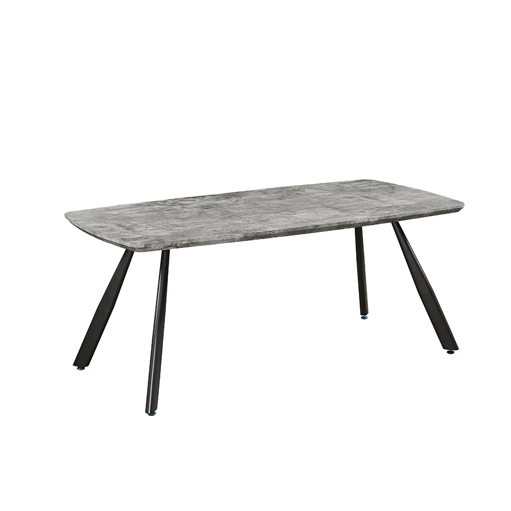 Étkezőasztal, 180 cm, beton/fekete, ADELON