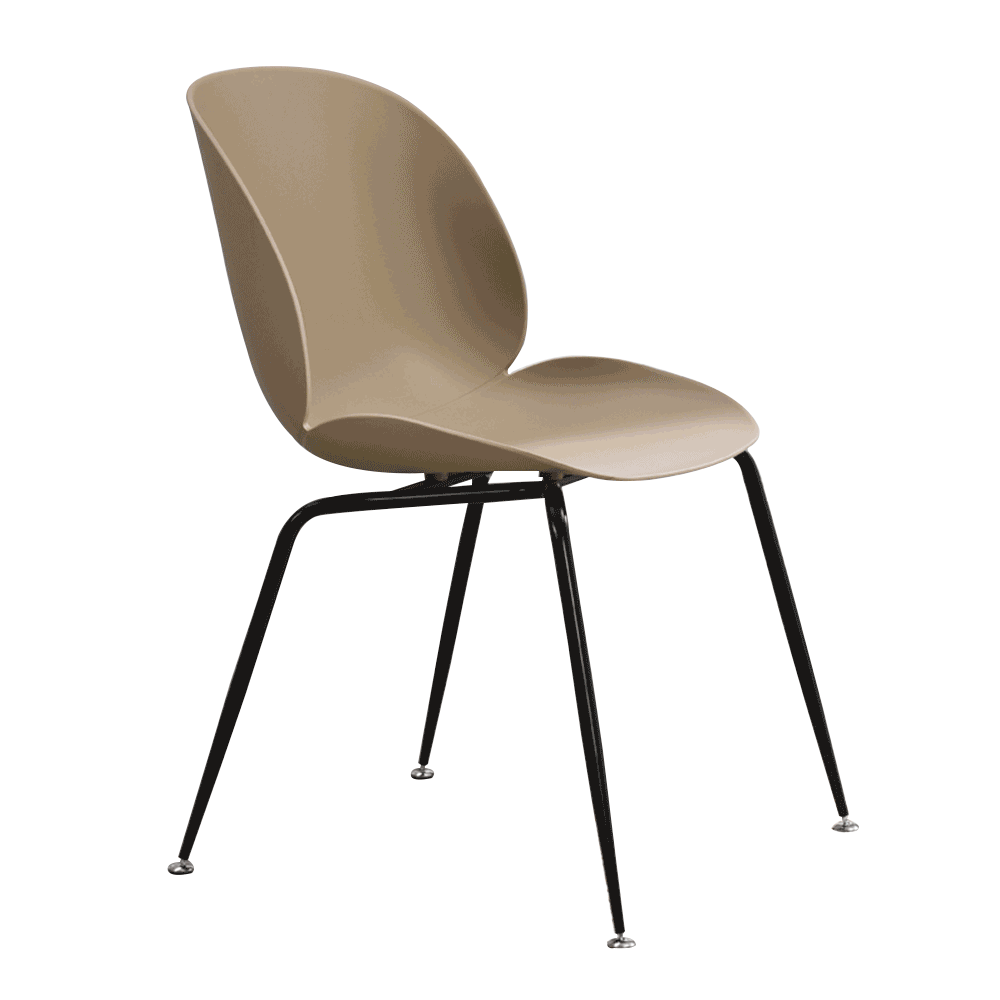 Jedálenská stolička, béžová/čierna, SONAIA