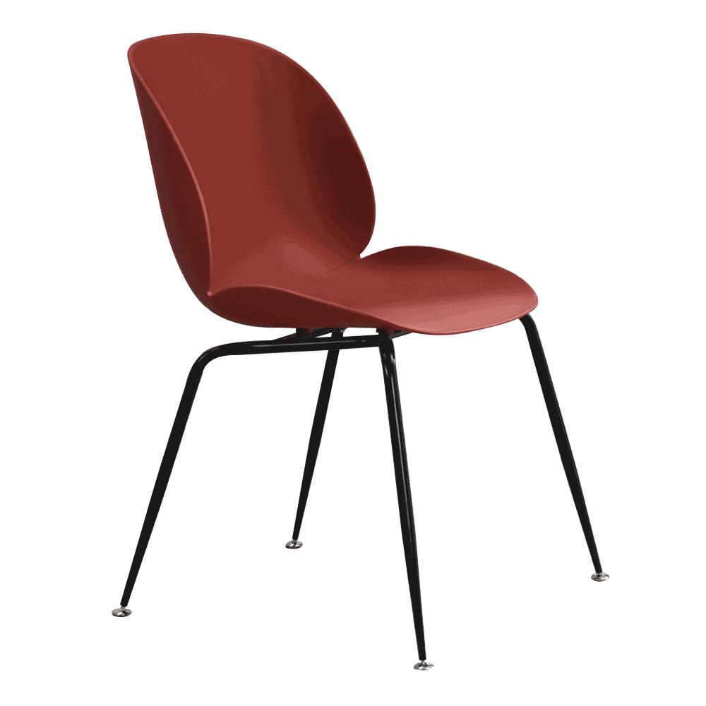 Jedálenská stolička, bordová/čierna, SONAIA