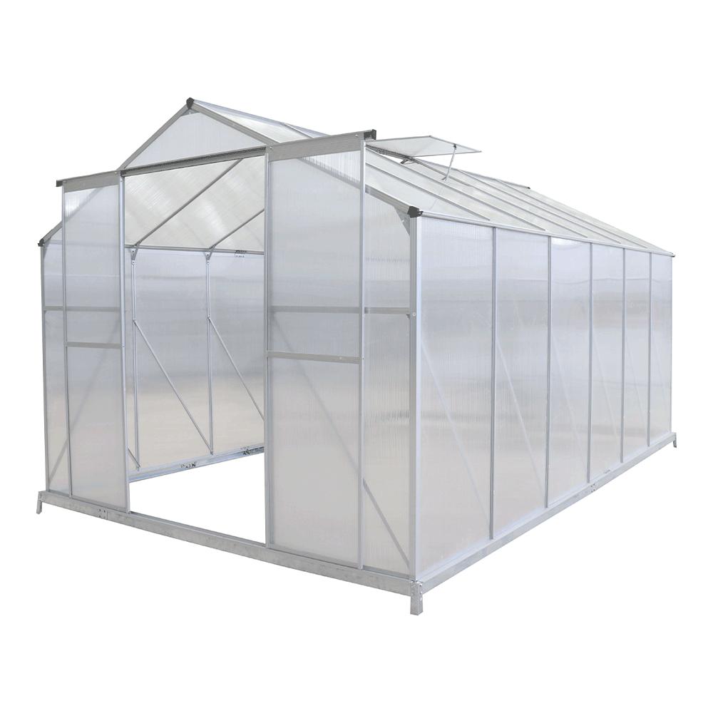 Kerti üvegház, polikarbonát, 252x374x195cm, KACEN TYP 5