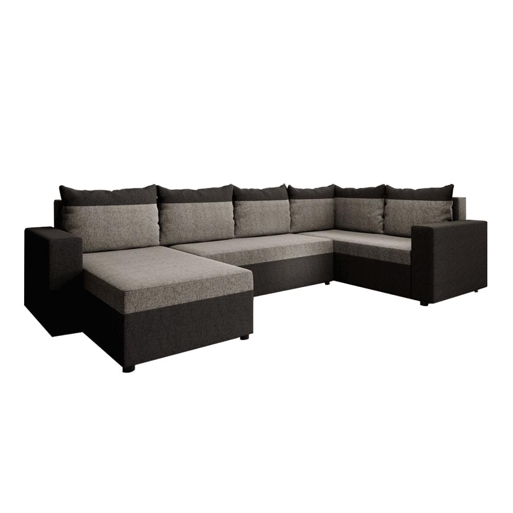 Univerzális ülőgarnitúra, barna/szürkésbarna taupe, LONDON U